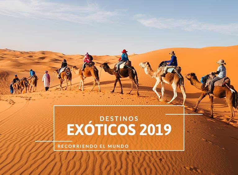 Destinos  exóticos 2019